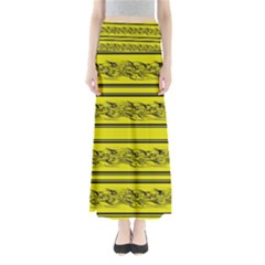 Yellow Barbwire Maxi Skirts by Valentinaart