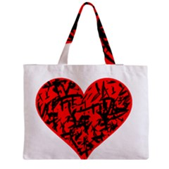 Valentine Hart Medium Zipper Tote Bag