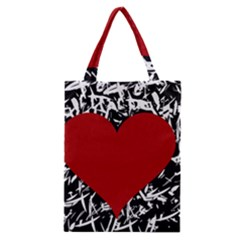 Red Valentine Classic Tote Bag by Valentinaart