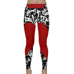 Red Valentine Classic Yoga Leggings