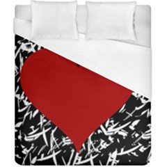 Red Valentine Duvet Cover (california King Size) by Valentinaart