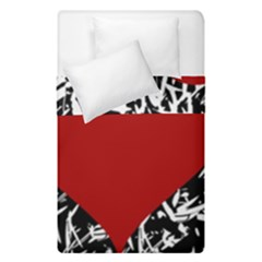Red Valentine Duvet Cover Double Side (single Size) by Valentinaart