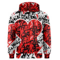 Red Hart   Graffiti Style Men s Zipper Hoodie