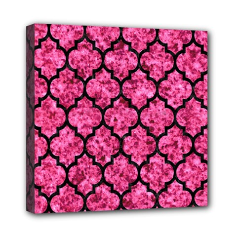 Tile1 Black Marble & Pink Marble (r) Mini Canvas 8  X 8  (stretched) by trendistuff