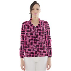 Woven1 Black Marble & Pink Marble (r) Wind Breaker (women)