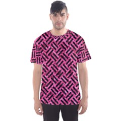 Woven2 Black Marble & Pink Marble (r) Men s Sports Mesh Tee by trendistuff