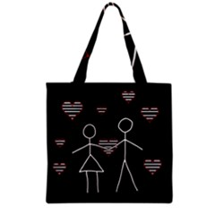 Couple In Love Grocery Tote Bag by Valentinaart