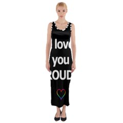 Proudly Love Fitted Maxi Dress