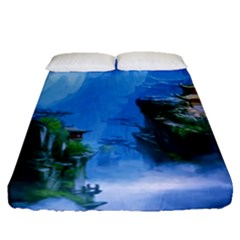 Fantasy Nature Fitted Sheet (queen Size) by Brittlevirginclothing