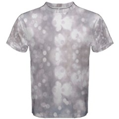 Light Circles, Rouge Aquarel Painting Men s Cotton Tee