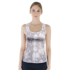 Light Circles, Rouge Aquarel Painting Racer Back Sports Top by picsaspassion
