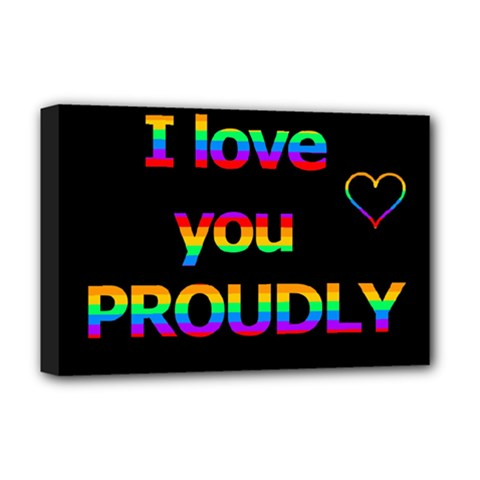 I Love You Proudly Deluxe Canvas 18  X 12   by Valentinaart