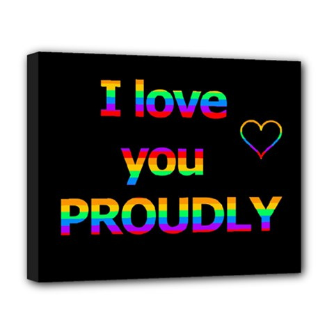 I Love You Proudly Deluxe Canvas 20  X 16   by Valentinaart