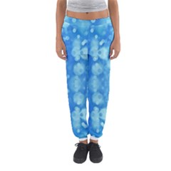 Light Circles, Dark And Light Blue Color Women s Jogger Sweatpants by picsaspassion