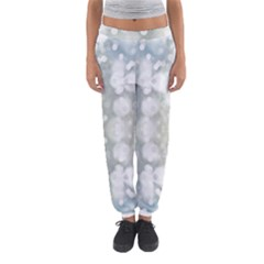 Light Circles, Blue Gray White Colors Women s Jogger Sweatpants by picsaspassion