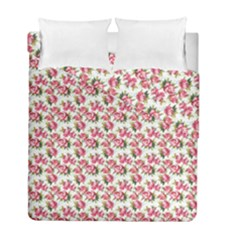 Gorgeous Pink Flower Pattern Duvet Cover Double Side (full/ Double Size) by Brittlevirginclothing