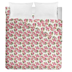 Gorgeous Pink Flower Pattern Duvet Cover Double Side (queen Size) by Brittlevirginclothing