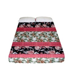 Cute Flower Pattern Fitted Sheet (full/ Double Size) by Brittlevirginclothing