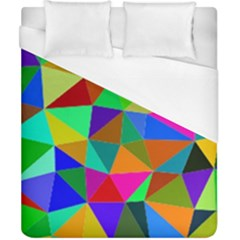 Colorful Triangles, Oil Painting Art Duvet Cover (california King Size)