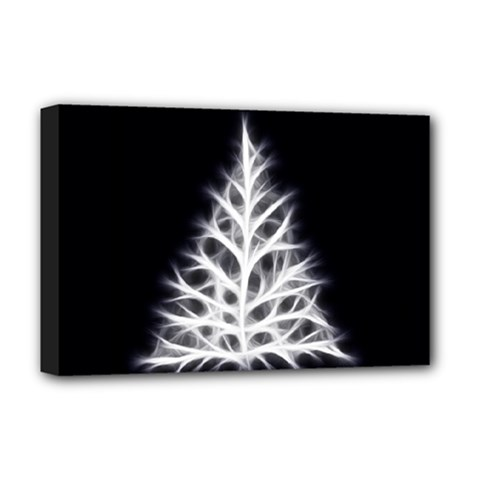 Christmas Fir, Black And White Deluxe Canvas 18  X 12   by picsaspassion