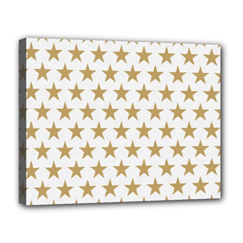 Golden Stars Pattern Canvas 14  X 11  by picsaspassion