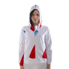 Tricolor Banner France Hooded Wind Breaker (women) by picsaspassion