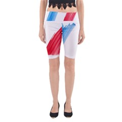 Tricolor Banner France Yoga Cropped Leggings by picsaspassion