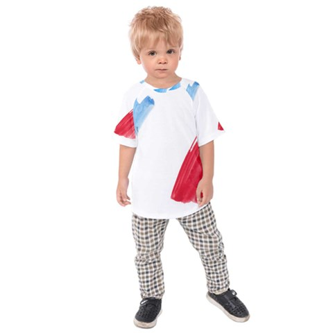 Tricolor Banner France Kids  Raglan Tee by picsaspassion