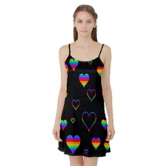 Rainbow Harts Satin Night Slip