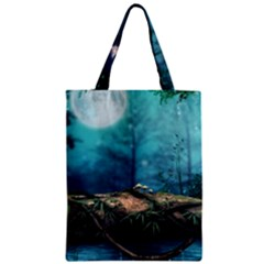 Mysterious Fantasy Nature Zipper Classic Tote Bag by Brittlevirginclothing