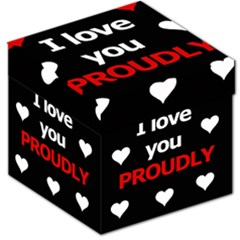 I Love You Proudly Storage Stool 12   by Valentinaart