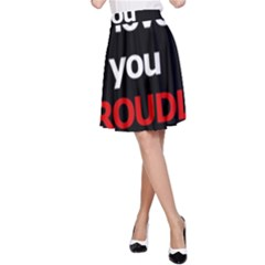 I Love You Proudly A Line Skirt