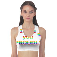 Proudly Love Sports Bra by Valentinaart