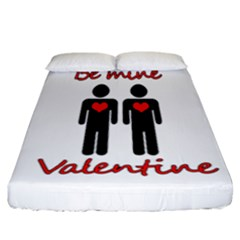 Be Mine Valentine Fitted Sheet (california King Size) by Valentinaart