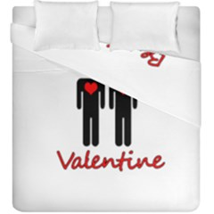 Be Mine Valentine Duvet Cover Double Side (king Size)