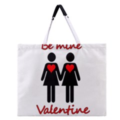 Be My Valentine 2 Zipper Large Tote Bag by Valentinaart