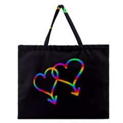 Love Is Love Zipper Large Tote Bag by Valentinaart