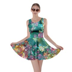 Butterflies, Bubbles, And Flowers Skater Dress by WolfepawFractals