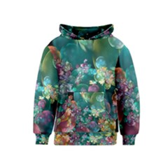 Butterflies, Bubbles, And Flowers Kids  Pullover Hoodie