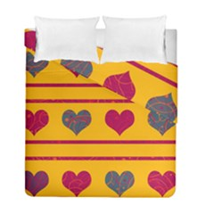 Decorative Harts Pattern Duvet Cover Double Side (full/ Double Size) by Valentinaart