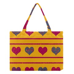 Decorative Harts Pattern Medium Tote Bag by Valentinaart