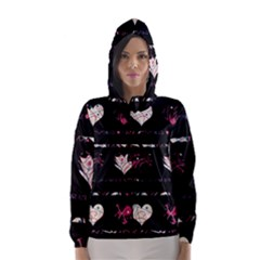 Elegant Harts Pattern Hooded Wind Breaker (women) by Valentinaart