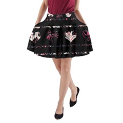 Elegant Harts Pattern A Line Pocket Skirt by Valentinaart