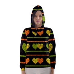 Colorful Harts Pattern Hooded Wind Breaker (women)