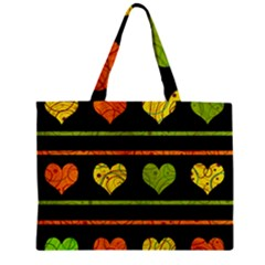 Colorful Harts Pattern Zipper Mini Tote Bag by Valentinaart
