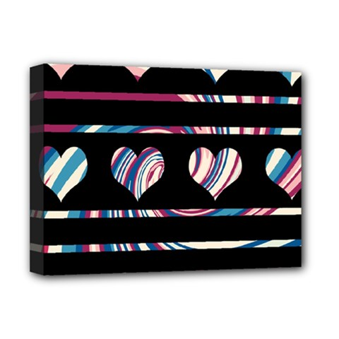 Colorful Harts Pattern Deluxe Canvas 16  X 12