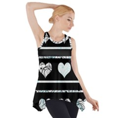 Elegant Harts Pattern Side Drop Tank Tunic by Valentinaart