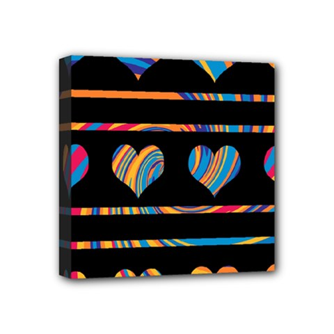 Colorful Harts Pattern Mini Canvas 4  X 4  by Valentinaart