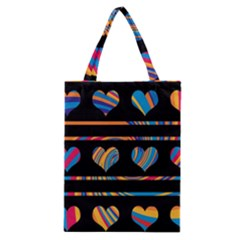 Colorful Harts Pattern Classic Tote Bag by Valentinaart