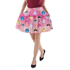 Alice In Wonderland A Line Pocket Skirt by reddyedesign